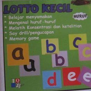 Jual kartu Lotto Kecil Huruf